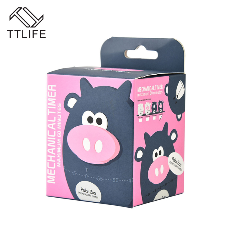 TTLIFE 60 Minute Kitchen Timer Cartoon Animal Mechanical Countdown Cooking Countdown Timer Alarm Counter Reminder Kitchen Gadget in Kitchen Timers from Home Garden