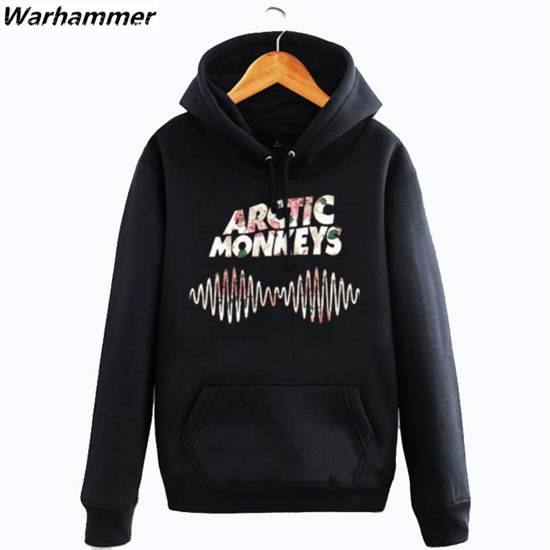 Arctic Monkeys Hoodie Cotton Winter Teenages Arctic Monkeys Logo Sweatershirt Pullover Hoody With Hood For Men Women Attractive Designs; Men's Clothing