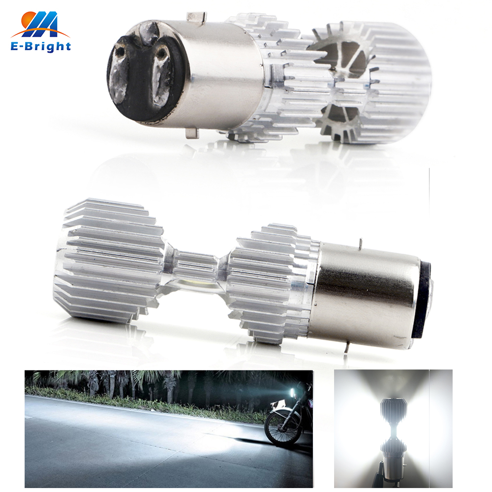 2PCS 9-80V BA20D H6 Led Motorcycle Headlights Electric Cars Driving Light Fog Lamp White CSC Chip Bulbs With High low beam 6000K2PCS 9-80V BA20D H6 Led Motorcycle Headlights Electric Cars Driving Light Fog Lamp White CSC Chip Bulbs With High low beam 6000K