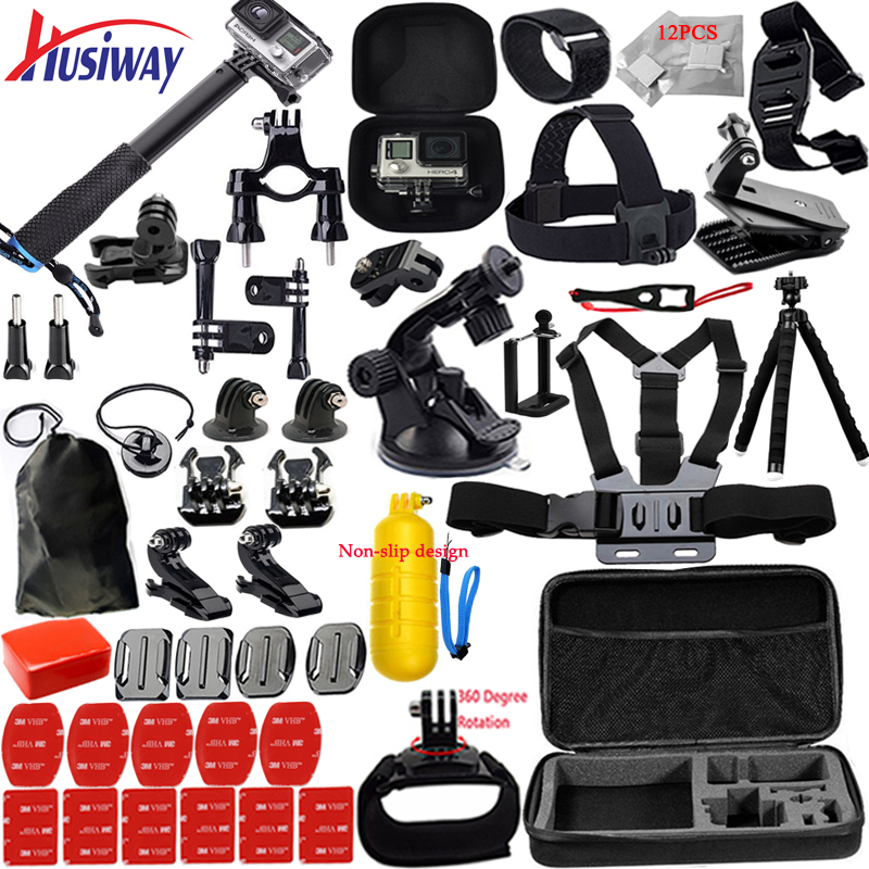 Husiway support Gopro Accessories set for go pro hero 5 4 3 kit mount for SOOCOO
