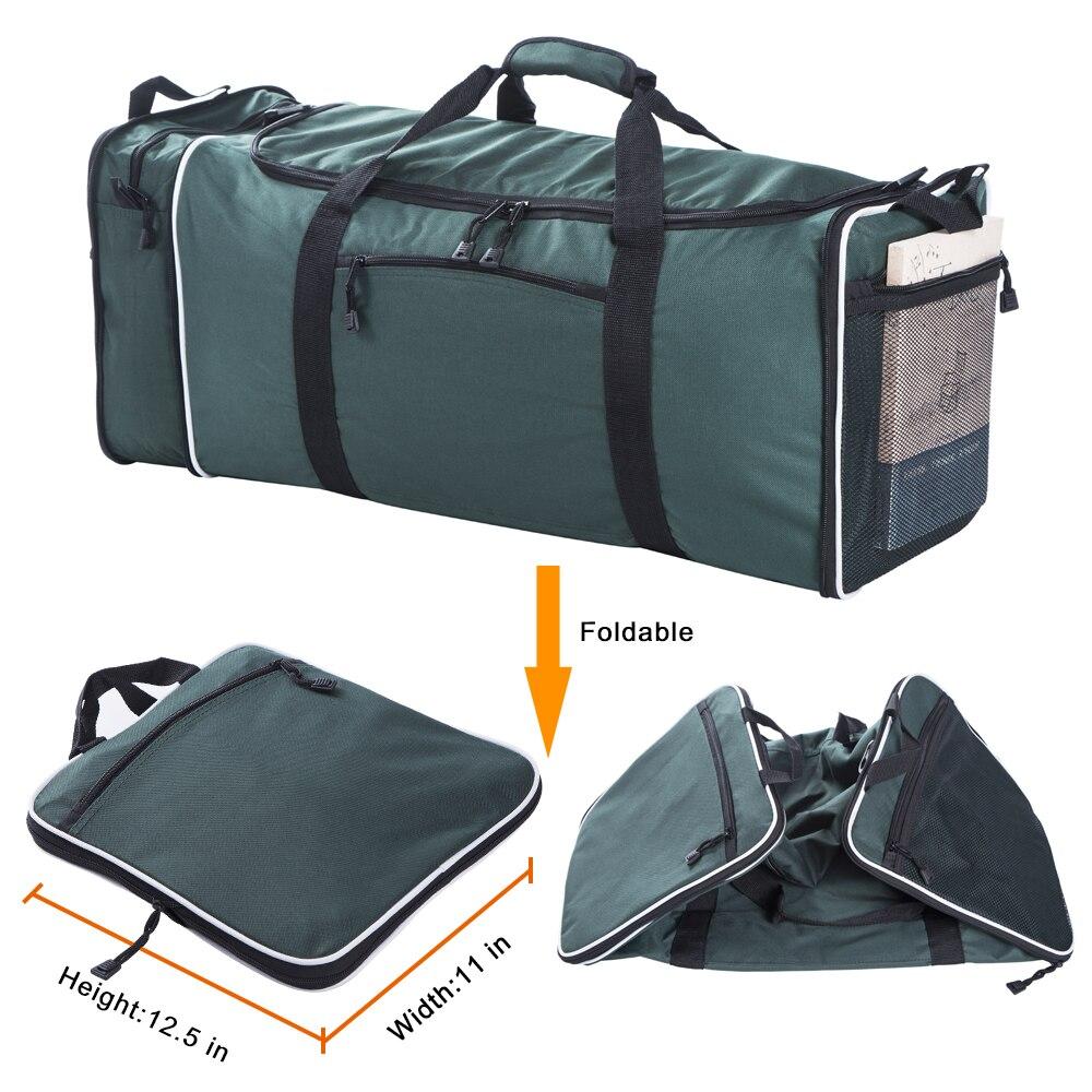 FLYONE grand sac polochon de voyage 11x12.5x25 pouces avec 57L capacité Polyester voyage Duffle sacs sac pliable simple bandoulière