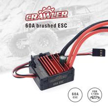 SURPASSHOBBY 60A Brushed ESC for RC 5-Slot 540 Brushed Motor Traxxas TRX-4 Blazer Axial SCX10 D110 D90 Crawlwer 1/10 Car raceflight spark micro 4 in 1 60a esc