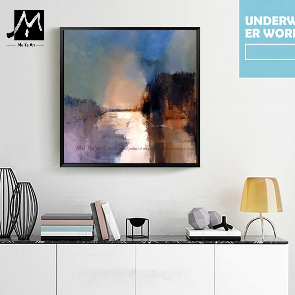 Abstrakte moderne kunst handgemalte aquarell wandbild ölgemälde auf ...
