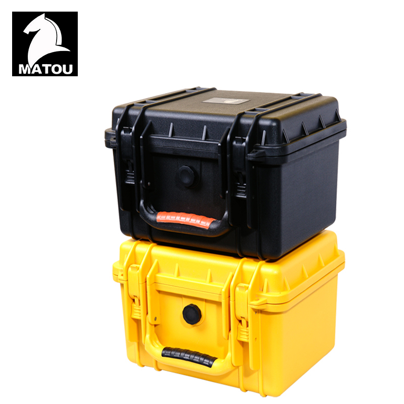Tool case toolbox waterproof protective equipment case camera case suitcase with pre-cut foam liningPanel installation box waterproof tool hard case 371 258 152mm dustproof anti corrossion protective camera protective case instrument box mj 5018