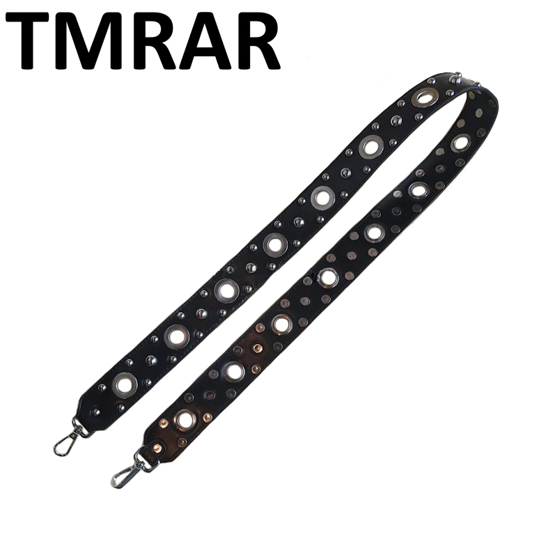 New 2018 PU Leather hollow studs rivets handbag belt punk trendy design bags strap bag parts bag accessory easy matching qn130 100% copper die casting 15 11mm tower head studs with screw base for punk bags hardware high quality rivets accessories