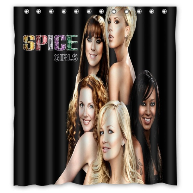 Anime Shower Curtain One Piece Dragon Ball Z Bleach Fairy Tail Naruto Together Spice Girls 66x72 Inch