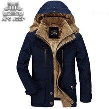 Зимняя куртка мужчины Новый 2017 ветровка снег оригинальный бренд АФН джип теплый толстый военный для отдыха мужские пуховые куртки Размеры M-5XL