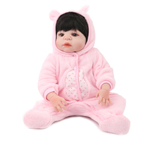 Full Vinyl body reborn baby doll silicone girls gift toys 22 inch newborn doll playmate bebe reborn 55 cm doll pink princess