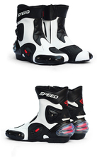 1 Pair Motorcycle Boots Moto Riding Boots Super Fiber Leather Motorbike Biker Chopper Cruiser Touring Ankle Shoes Motorcycle Sho