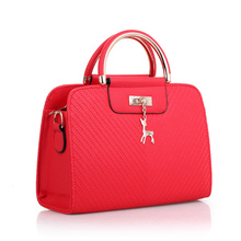Handbag Women Shoulder Bag Designer Brand Small Deer Pendant Handbags Female High Quality Stereotypes