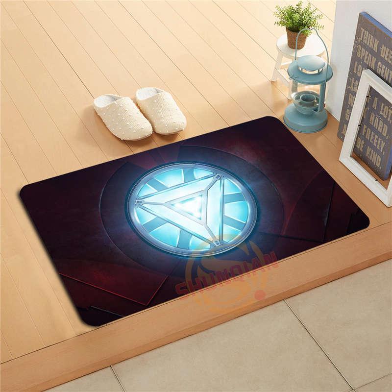 Custom Iron Man Doormat Bath Mats Foot Pad Home Decor ...