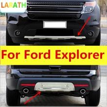 Dla Ford Explorer 2013 2014 2015 ze stali nierdzewnej płyta ślizgowa z przodu z tyłu płyta zderzaka straż płyta ślizgowa bar dobrej jakości 2 sztuk tanie tanio FASTALI CN (pochodzenie) 30cm Chrom stylizacja STAINLESS STEEL 0 6kg For Ford Explorer 2013 2014 2015 10cm Iso9000 Chromium Styling