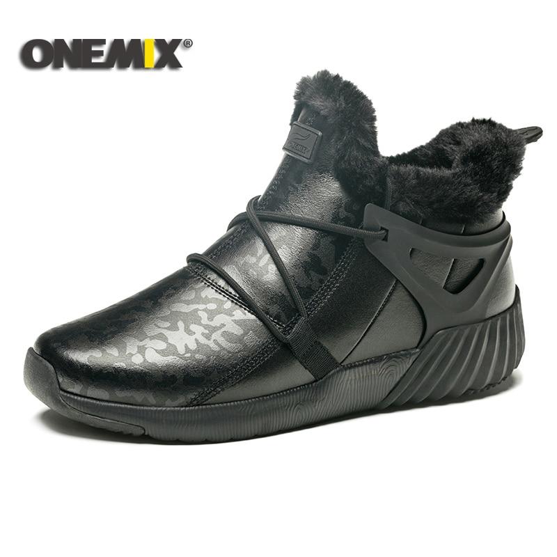 ONEMIX Winter Running Shoes men Comfortable Men s Boots Women s boots Warm Wool Sneakers Outdoor