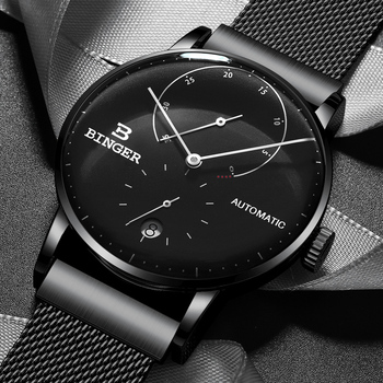 Switzerland BINGER Men Watch Luxury Brand Automatic Mechanical Mens Watches Sapphire Male Japan Movement reloj hombre B-1187-2