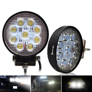 Safego 2x 27W led work light offroad lamp 12V LED tractor work lights bar spot Flood off road ATV 4X4 accessories car truck 24V