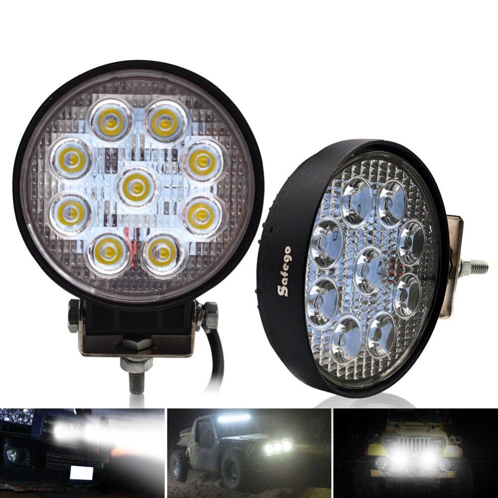 Safego 2x27 w led light work offroad lampe 12 v LED tracteur travail lumières bar spot Flood off route VTT 4X4 accessoires de voiture camion 24 v