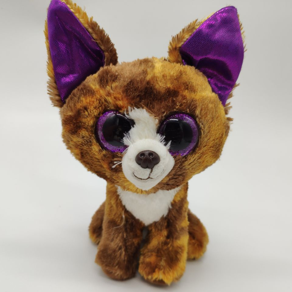 DEXTER - chihuahua DOG 25cm 10 inch Ty Beanie Boos Plush Toy  Stuffed Animal Kids Toy Christmas Gift  SOFT TOY