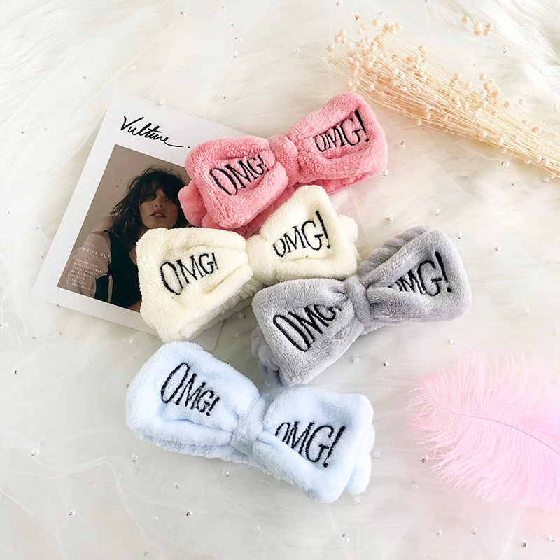 2019 New Flannel Soft Bow OMG Women Headbands Turban Hair Holder Hairbands Hair Band   Headwear