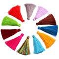 5 cm 10 pçs/lote poliéster embroiderTassels Multiuso têxtil pequena borla brinco Pendente de Cetim para DIY Jewelry Making Achados