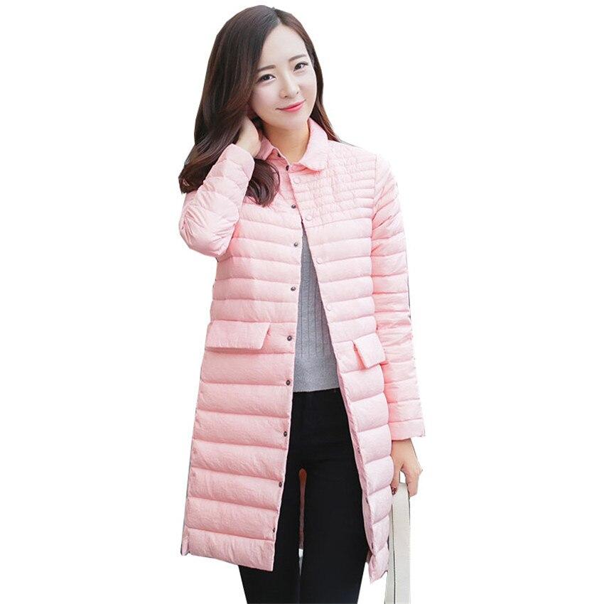 New Winter Women Plus Size White Duck   Down   Jacket Light   Down   Jacket Long   Down     Coat   Lady Warm   Coats   Jackets Female ClothingsWZ152