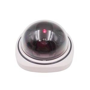 Image 3 - Wsdcam caméra de sécurité intelligente vidéosurveillance, dôme, intérieur/extérieur, en plastique, faux CCTV, avec clignotant, LED lumières rouges