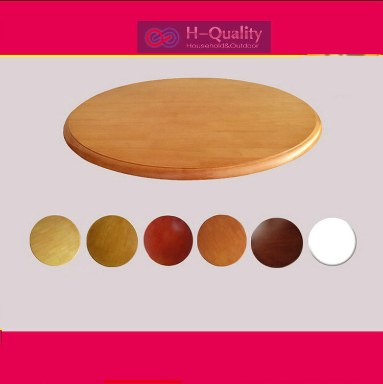800mm 32inch dia solid oak wood quiet smooth lazy susan for Rotating dining table