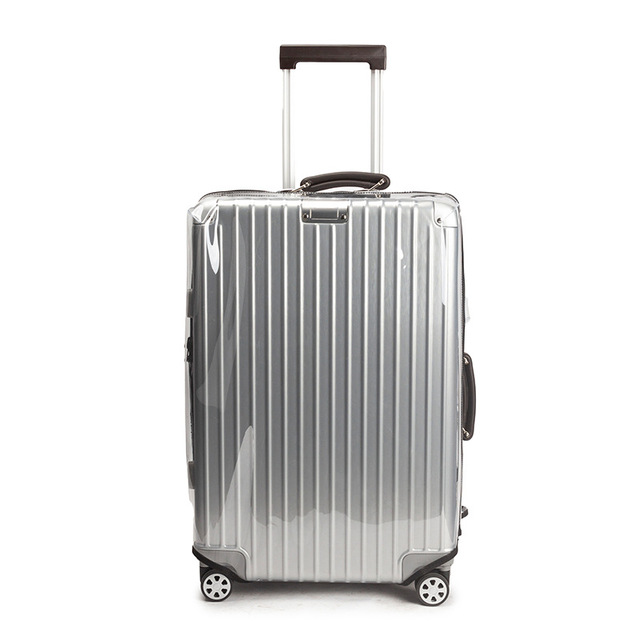 """Thicken PVC Luggage Cover Transparent Suitcase Covers with Zipper Free Dismantling Clear Luggage Protector Cover 22""""24""""26""""28""""30"""""""