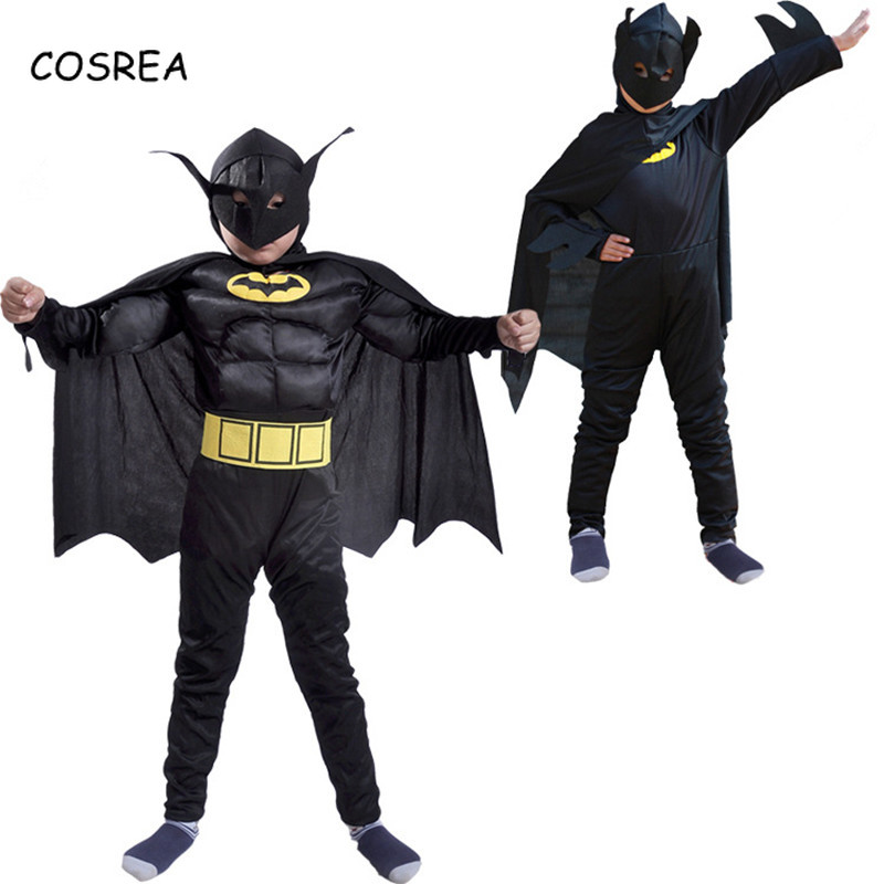 Movie The Batman Costume Child Boys Batman Batgirl Mask Fancy Dress High Quality Superhero Costumes Sets Outfits Festival Party
