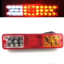 2Pcs Car Rear Tail Lamp 12V Truck Trailer Lorry Stop Taillight Turn Signal Lights Reverse