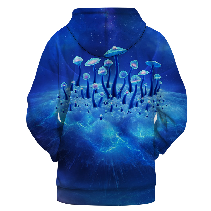 Mushroom 3D Hoodies Men Hoody Printed Casual Tracksuit Groot Sweatshirt Blue Coat Pullover Male Streatwear DropShip ZOOTOPBEAR