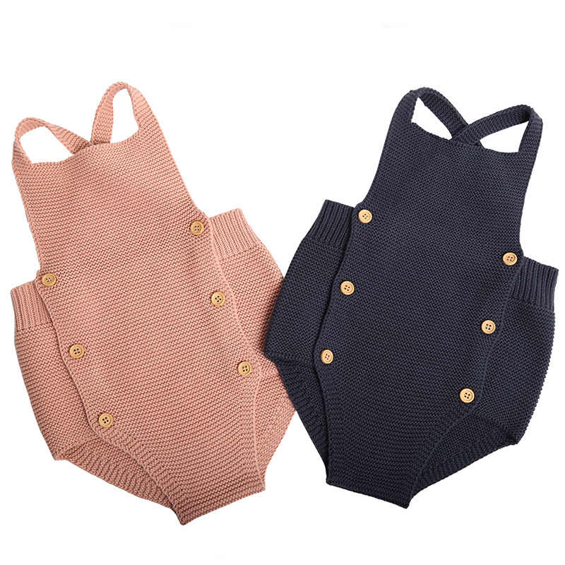 New 2020 Baby Boys Girls Rompers Baby Girl Clothing Jumpsuit Infant Clothing Baby Boy Clothes Sleeveless Newborn Knitted Romper