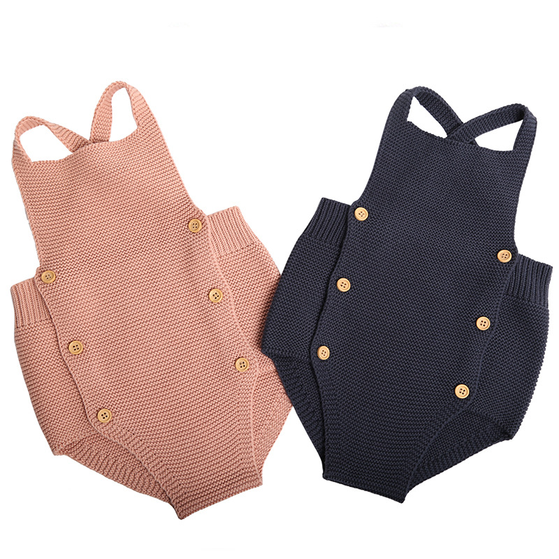 New 2019 Baby Boys Girls   Rompers   Baby Girl Clothing Jumpsuit Infant Clothing Baby Boy Clothes Sleeveless Newborn Knitted   Romper