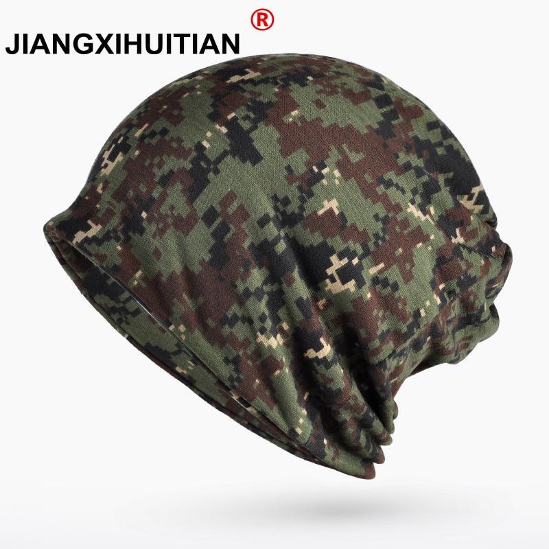 Turban Hat Camouflage   Beanie   Stocking Hats For Women Men Baggy Cap Hip Hop Hat Female   Skullies     Beanies   Scarf Mask Bonnet