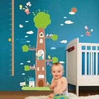 Die Neue Baum Haus Höhe Aufkleber Große Größe Vinilo Baby Wandaufkleber Dekoration Kinderzimmer Wandaufkleber Für Kinder zimmer