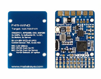 Matek Systems F411-WING STM32F411 Flight Controller Control With INAVOSD MPU6000 BMP280 Support Fly Wing Fixed Wing RC Airplane