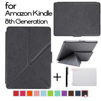 Case for Kindle 8th Generation 2016 Ereader Origami Leather Cover for Kindle 8 Auto Sleep and Wake up Protective Shell /skin new design case for amazon 2016 kindle 8th generation 6 ereader slim protective flip smart cover pu leather screen protector