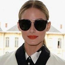 High Quality Shop Counters Round Sunglasses Women Brand Designer Mirror,Steampunk Avant-garde PC Gradient Lens Mens Glasses 2016