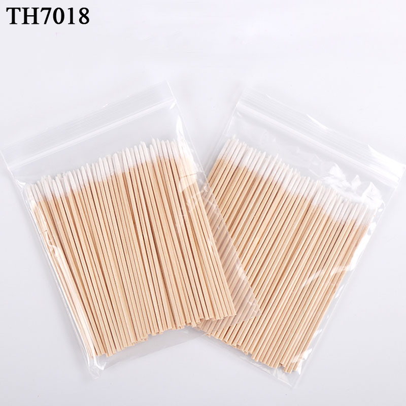Hot 5pack 100pcs/pack Wood Cotton Swab Cosmetics Permanent Makeup Health Medical Ear Jewelry Clean Sticks Buds Tip 10cm Cotonete