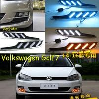 Car Bumper headlight for Golf7 daytime light Golf 7 2014~2016y car accessories LED DRL headlamp for Golf7 fog light