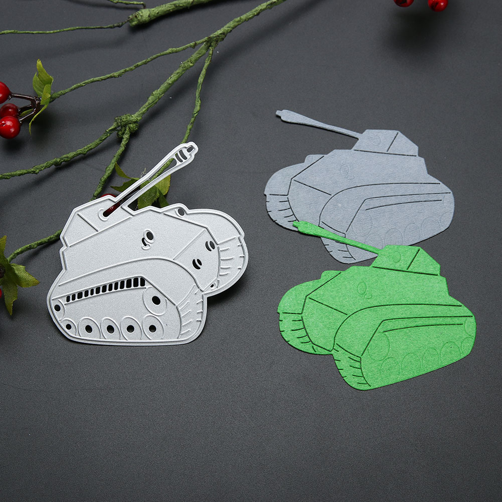 Tank Frame Craft Metal Cutting Dies Stencils for DIY Scrapbooking Dies Photo Album Decorative Embossing DIY Paper Cards Die Cut