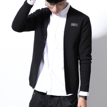 MOTUWETHFR Cardigan Slim Fit Casual Men Long Sleeve V Neck Solid Button Design