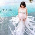 New hot sale Chiffon maternidade grávida vestido longo fotografia adereços Voile vestido de maternidade gravidez mulheres fotografia