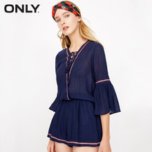 ONLY Summer Women's Lace-up V Neckline Jumpsuits |118278503(China)