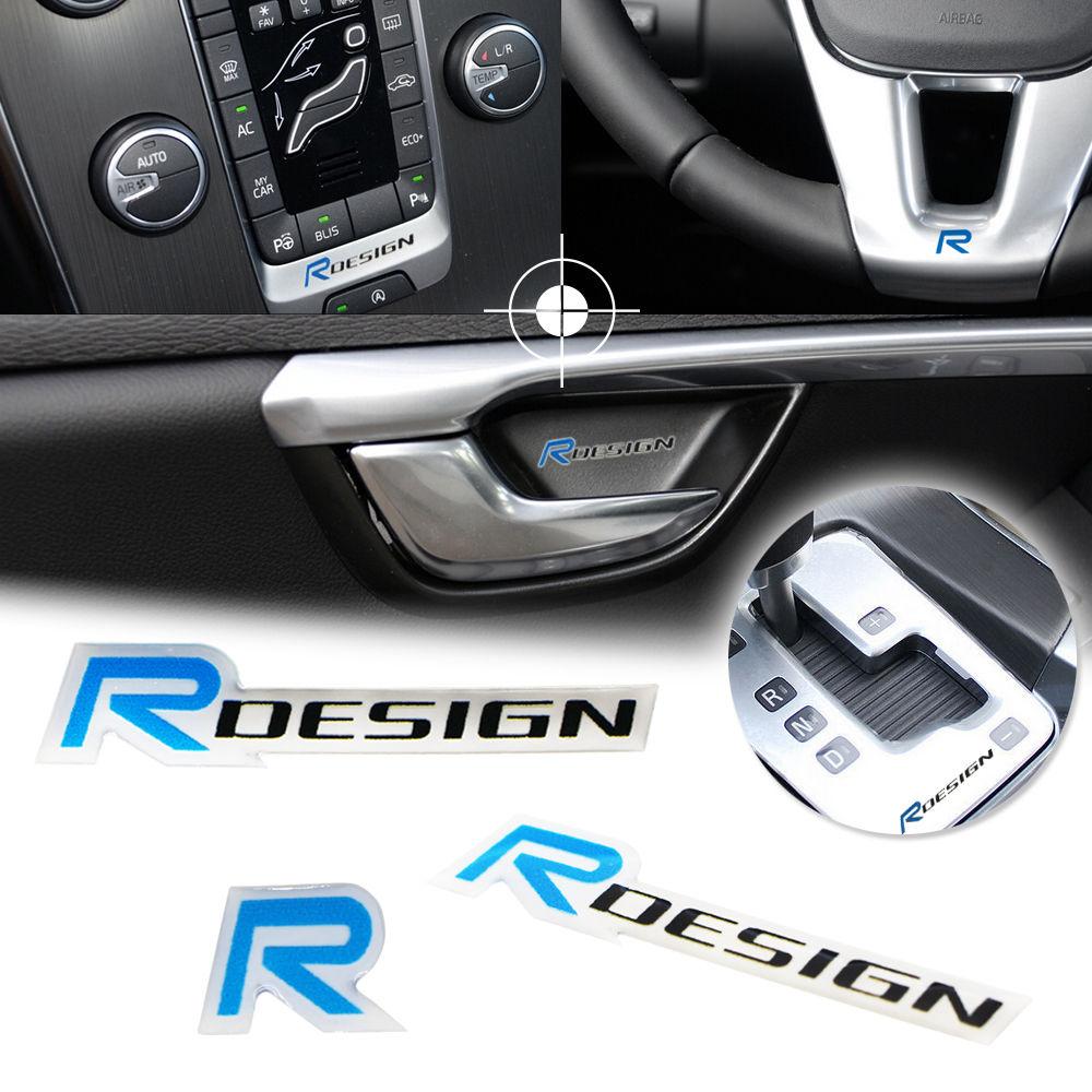 Design car emblem - 3d R Design Logo Emblem Car Door Window Decals Stickers For Volvo Xc60 V60 S40