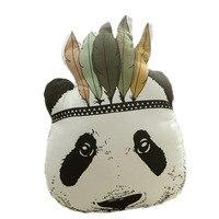 Bebé de Peluche de Juguete Almohada de Dibujos Animados Lindo Decorativo Indio Cojín Panda Animal Cama Sofá Regalo de la Muñeca