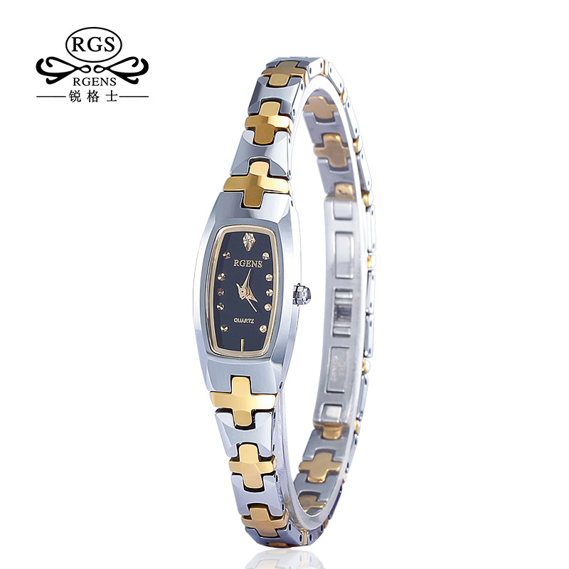 fashion ladies RGENS brand tungsten steel wristwatches quartz square luxury woman watches bracelet diamond waterproof clocks woman bracelet watches rose gold disney brand women clocks stainless steel mickey mouse luxury diamond 30m waterproof wristwatch