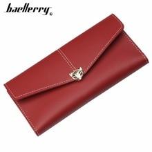 Купить с кэшбэком 2019 Baellerry Women Wallets Fox Long Cell Phone Pocket Big PU Leather Red Female Wallet Top Quality Brand Purse For Girl