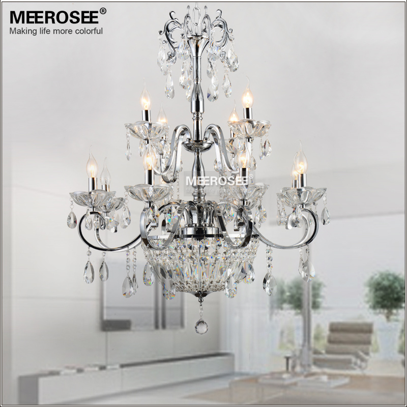 Wrought Iron Crystal Chandelier Light Fixture 2 Tiers 12 E14 Or E12 Lights Re Lamp Lighting In Chandeliers From On