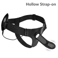 ORGART Multi Speed Strap on Dildo Vibrator Silicone Hollow Strap on Penis Harness Lesbian Strapon Dong Sex Toys for Men Woman