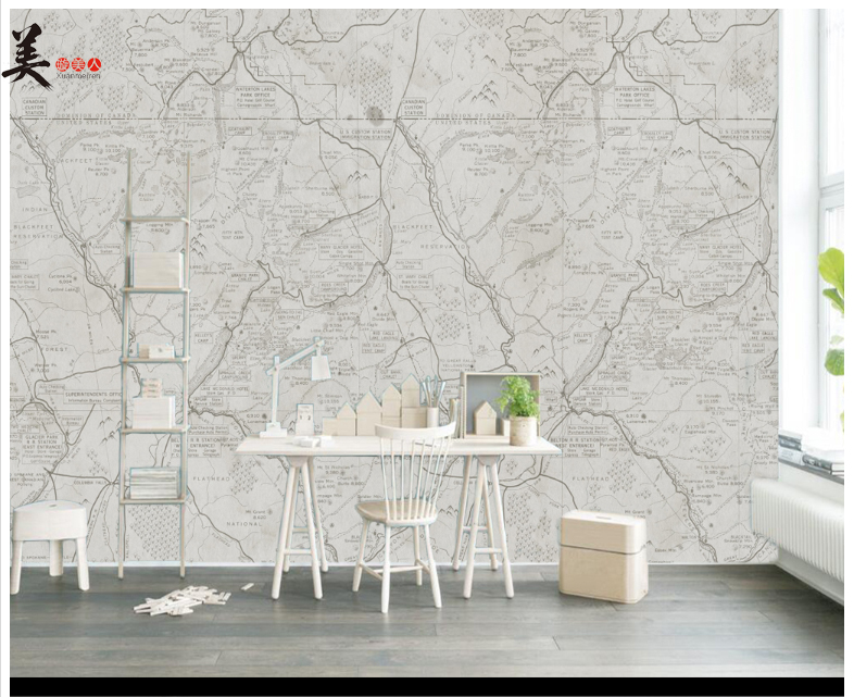 Adhesive Backed Paper PVC Wall Covering 3d Large European